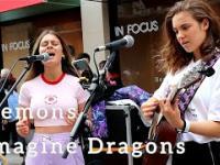 Urocze panie grają i śpiewają na ulicy