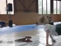 Młody talent breakdance
