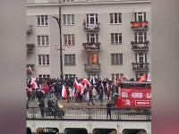 Narodowcy podpalili czyjeś mieszkanie w czasie Marszu Niepodległości