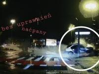 Latający Volkswagen. Naćpany kierowca bez uprawnień rozbił się na słupie 22.11.2020 Białystok