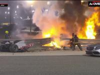 Dramatyczna ucieczka Romaina Grosjeana z płonącego bolidu