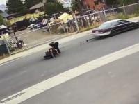 Holowanie motocykla na lince, czy coś może pójść nie tak?