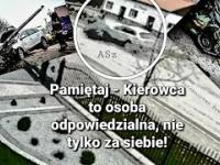 Wypadek pod Ełkiem. Zderzenie trzech aut. Stare Juchy, 23 grudnia 2020 POŚPIECH