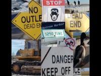 Zdradliwa i zamknięta plaża/ Niebezpieczne oblodzenia/ Oswojone dzikie kaczki!