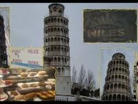 Replika Wieży w Pizie, a na niej 100-700 letnie dzwony / Końska Policja W USA