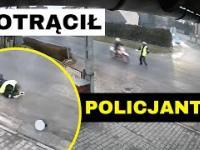 Motocyklista potrącił policjanta i uciekł