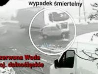 87-latek swoim Fiatem Seicento wjechał pod ciężarówkę. Czerwona Woda woj. dolnośląskie 04.01.2020