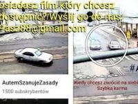 kierowca na skrzyżowaniu w centrum Pabianic chciał sprawdzić umiejętności driftu - szybka karma ????