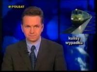 Wizualizacja wypadku kolejowego pod Dęblinem - Polsat z lat 90