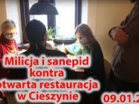 Policja i sanepid kontra otwarta restauracja w Cieszynie