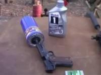 Filtr oleju jako tłumik do pistoletu