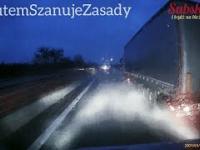 Niebezpieczne warunki pogodowe na autostradzie