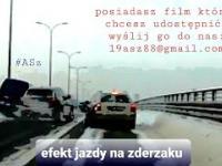 Jazda na zderzak ul.Gen. Stanisława Maczka 18.01.2021 Białystok DK65
