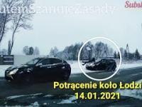 Potrącenie na poboczu drogi koło Łodzi 14.01.2021