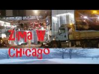 Śnieg i Zima W Chicago USA