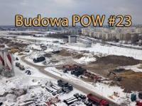 Zima na budowie Ursynowskiego tunelu trasy POW 23