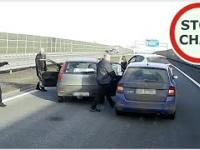 Zatrzymanie obywatelskie  pijanego kierowcy na A4