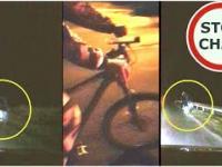 Nieoznakowany rowerzysta i reakcja kierowcy
