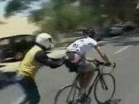 Michael Rogers wygrywa zawody na ...rowerze kibica!