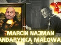 Wściekły Najman namalowany mandarynką