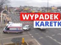 Wypadek karetki w Lublinie. Nagranie z monitoringu!