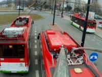 Przejazd z perspektywy odbieraka trolejbusu