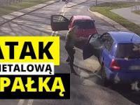 Dresiarz zajechał drogę i metalową pałką wybił szybę innego kierowcy!