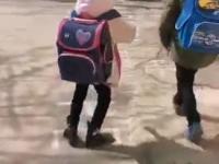 Dzieci noszą zdecydowanie  za ciężkie plecaki