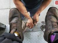 Pucybut w Meksyku przywraca blask zniszczonym butom