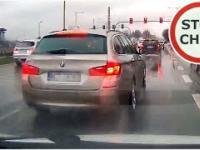 BMW zajeżdża i blokuje drogę - agresja drogowa
