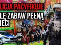 Milicja pacyfikuje salę zabaw pełną dzieci