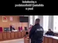 Zaatakowany przez Babcię policjant składa zeznania