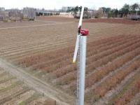 Przeciwdziałanie przymrozkom za pomocą wiatraka w gospodarstwach sadowniczych