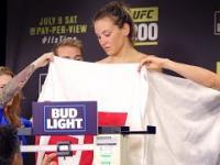 Ważenie zawodniczki UFC Mieshy Tate bez ubrań