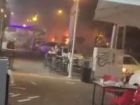 Sfilmowany z bliska wybuch rakiety w Izraelu