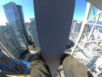 Prace budowlane w centrum Vancouver w Kanadzie