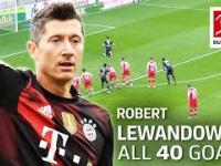 Wszystkie 40 goli Roberta Lewandowskiego