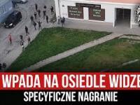 """""""Atak"""" dzieciaków z ŁKS na osiedle Widzewa Łódź"""