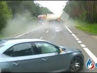 Tak doszło do wypadku na DK 7 pod Unierzyżem. Nagranie z wideorejestratora.