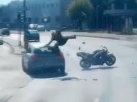 Wypadek motocyklisty w Poznaniu