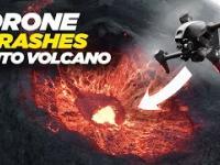 Dron wpadł do wnętrza wulkanu