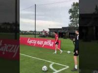 Robert Lewandowski pokazuje jaką ma technikę przed EURO