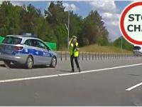 Kontrola prędkości i ostre hamowanie na dwupasmówce