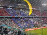 Paralotnia na boisku przed meczem Francja-Niemcy. O krok od tragedii
