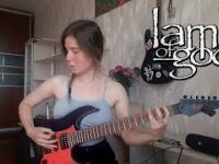Znana nam już gitarzystka tym razem podczas upałów