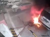 Zapłon samochodu elektrycznego w czasie ładowania