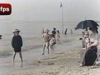 Dzień na plaży w 1899 r. w 4K oraz w 60 fps