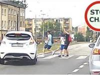 Pirat drogowy na przejściu dla pieszych w Łodzi