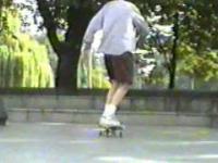 Skateboard w 1992 roku. Warszawie