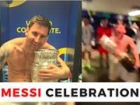 Messi świętuje z kolegami wygraną Argentyny w Copa America